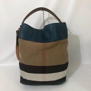 Burberry Bags - Authentic Burberry Tassel Susanna Tote Blue